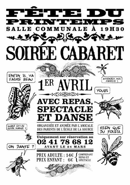 Soirée Cabaret à Chaudefonds le 01/04/06